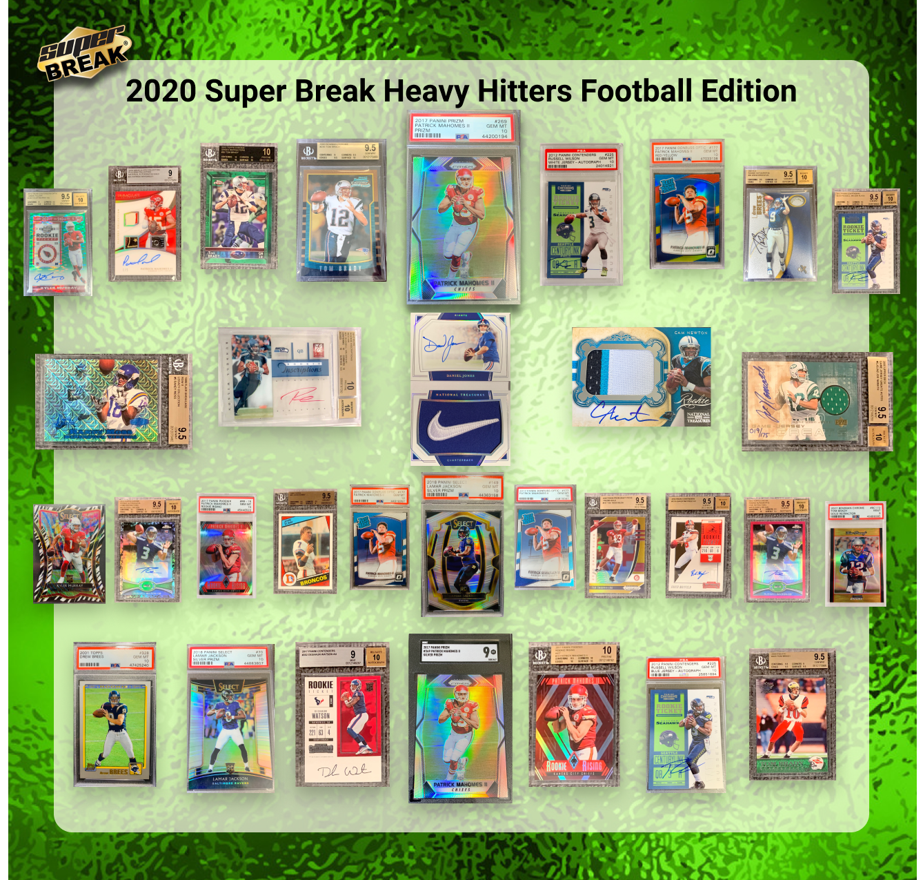 2020 Super Break Heavy Hitters Football Case Random Teams #10