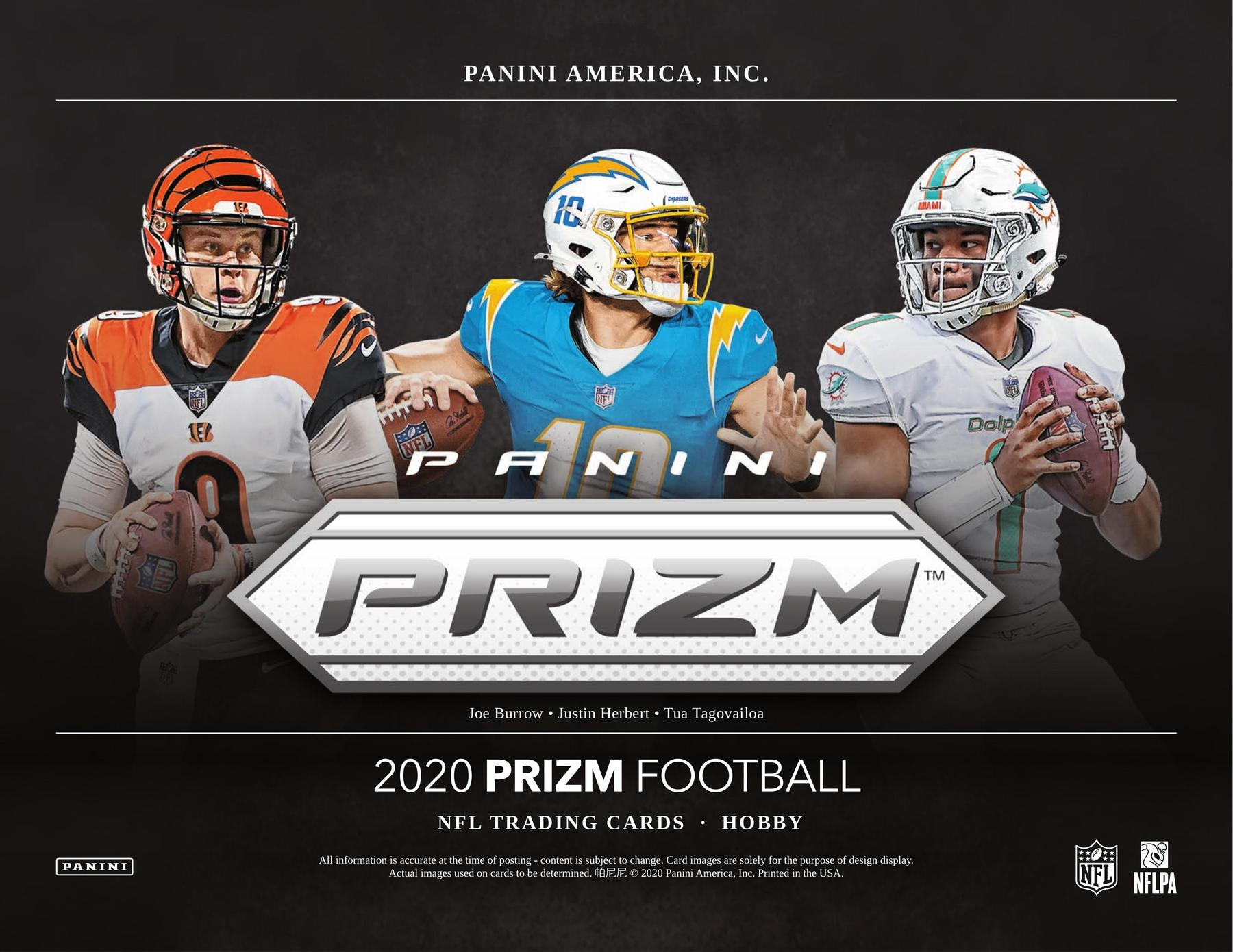2020 Panini Prizm Football Hobby 6 Box Random Teams #1