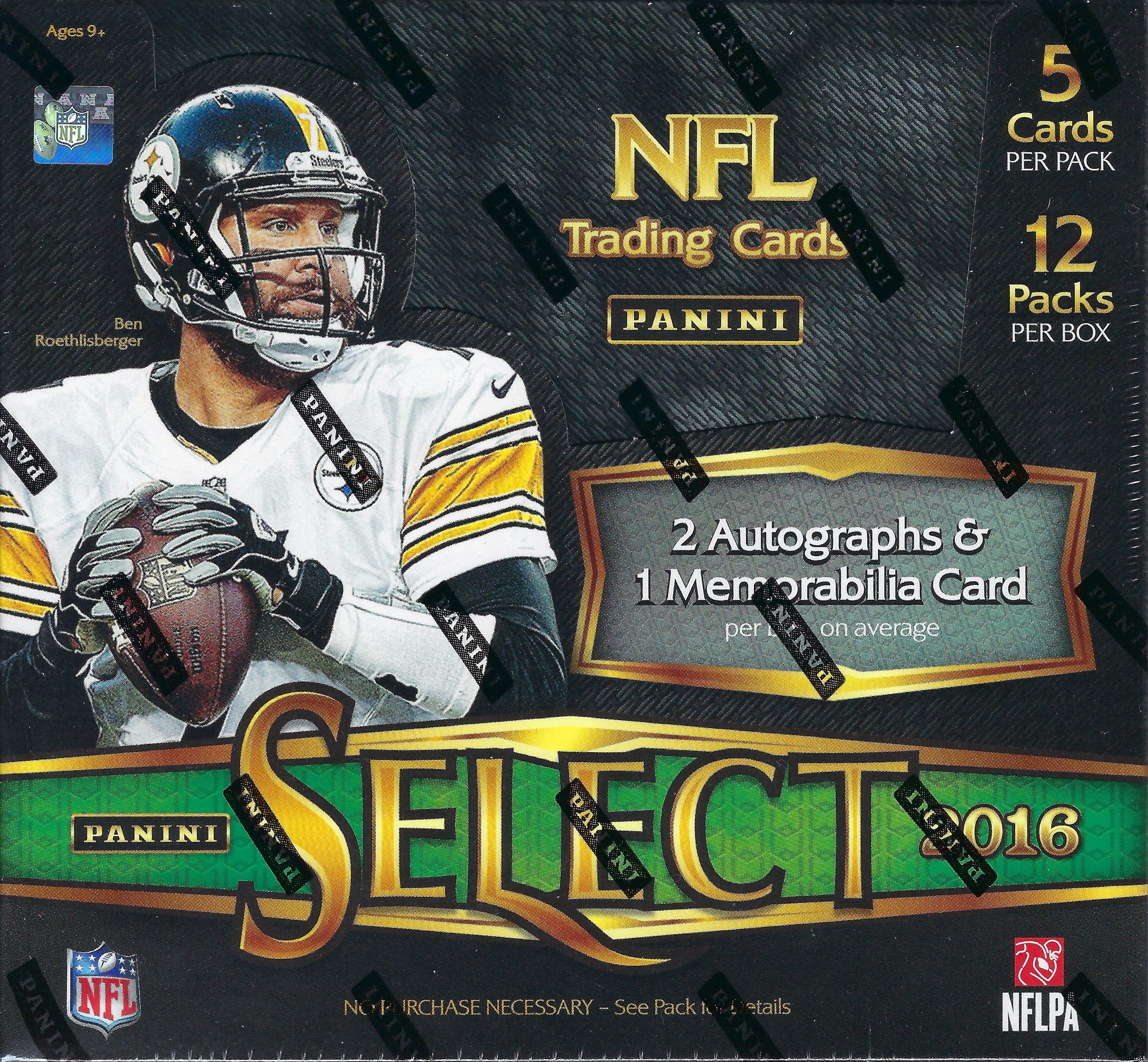 2016 Panini Select Football Hobby Single Box Random Teams #3