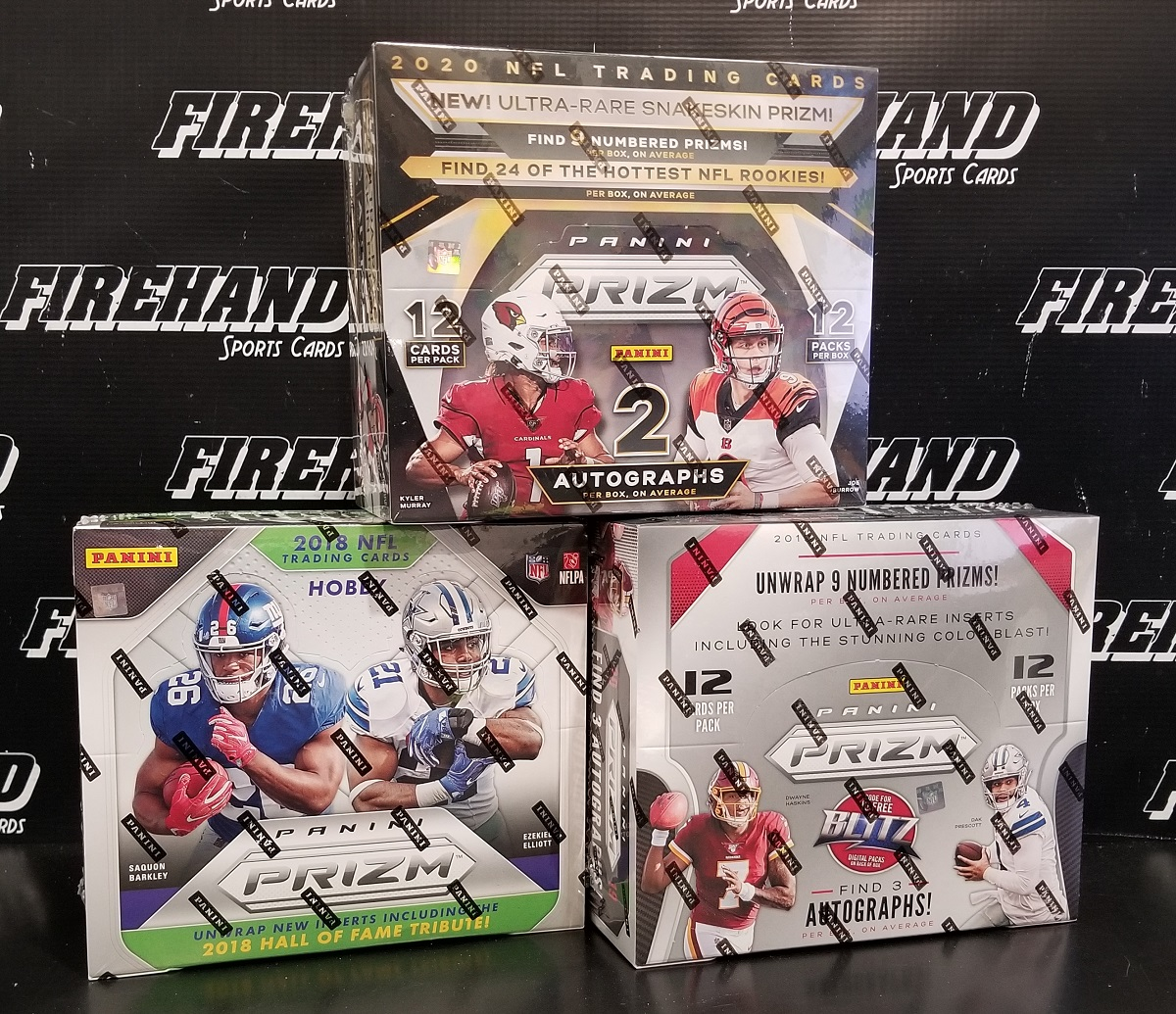 18, 19, 20 Panini Prizm Football Hobby 3 Box Random Teams #1